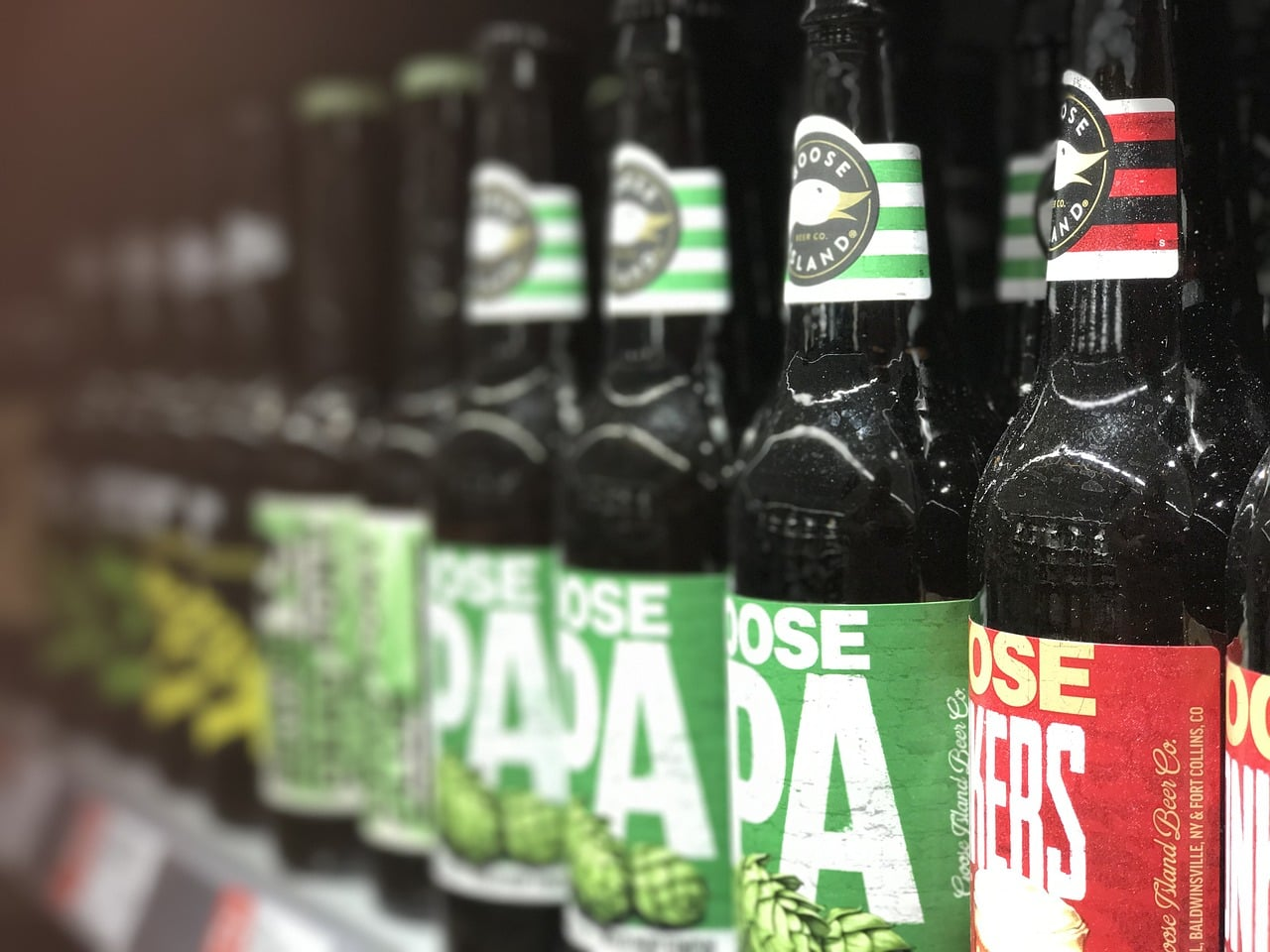 bottles of IPA beer