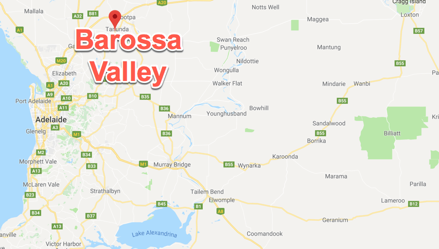 Barossa Valley map