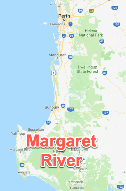 Margaret River map