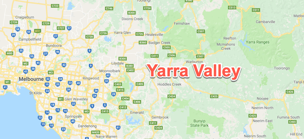 Yarra Valley map