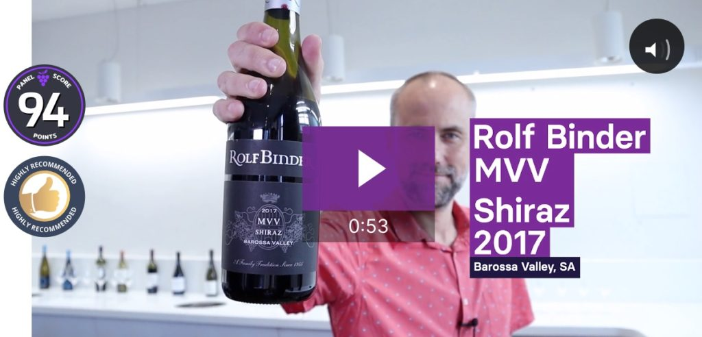 2017 Rolf Binder MVV Barossa Valley Shiraz