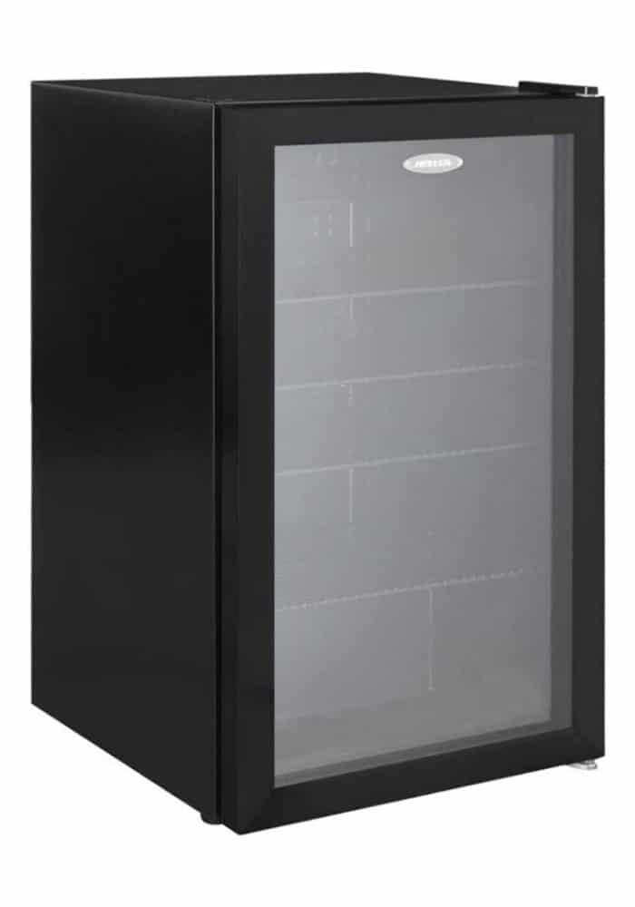 Heller 98L Black Beverage Cooler Refrigerator